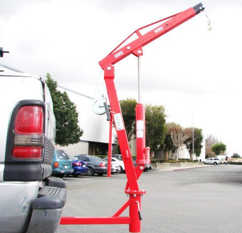 Lowest Prices! 500 Lb Pickup Truck Hydraulic Pwc Dock Jib Engine Hoist Crane Hitch Mount Lift
