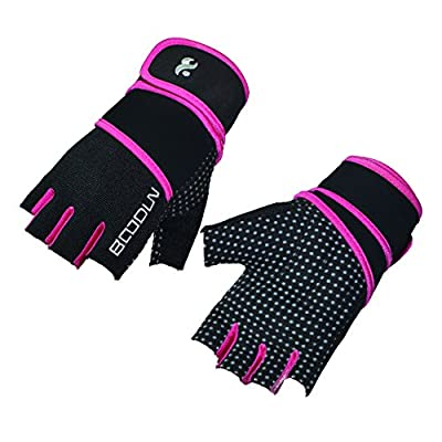 Ladies weight lifting fitness gloves long wrist wrap gloves for Gym Fitness by Tofern