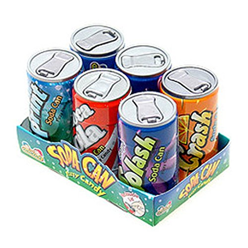 Soda Cans Fizzy Candy Six-Packs 1 Count (Candy Soda A compare prices)