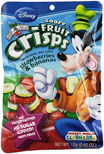 Brothers-ALL-Natural Goofy Crisps, Strawberry/Banana, 0.42 oz Pouches-0.42 oz, 12 ct (Freeze Dried Fruit Disney compare prices)