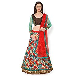 Bhelpuri Women Red Bhagalpuri Lehenga Choli