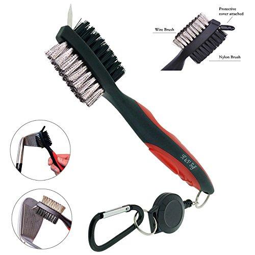 spazzola-per-mazze-da-golf-e-pulisci-groove-di-kv-golf-spazzola-doppio-lato-nylon-acciaio-con-setole