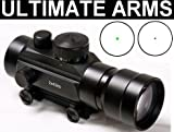 Ultimate Arms Gear 2X42mm Tactical Dual Red And Green Dot CQB Hunting Sight Scope With Detachable 2x Magnifier Integral QD Dovetail 3/8
