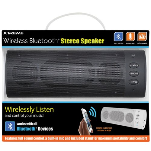 Xtreme Wireless Bluetooth Stereo Speaker - Retail Packaging - Black