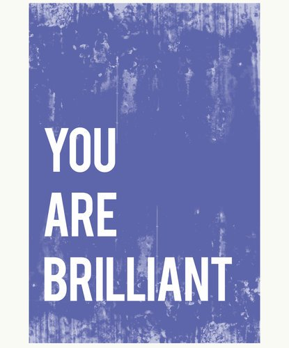 You Are Brilliant Wall Art Print 11X14, Typography, Nursery Decor, Kid'S Wall Art Print, Gender Neutral, Kid'S Room Decor, Motivational Word Art, Inspirational Artwork For Kids, Baby Room Decor, Playroom Decor, Classroom Decor, Teenager'S Room Decor, Eco