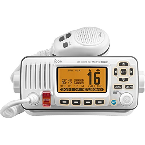 ICOM IC-M324G 22 Marine VHF Radio, with GPS, in White primary