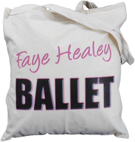 Personalised - Ballet text - Natural Cotton Shoulder Bag