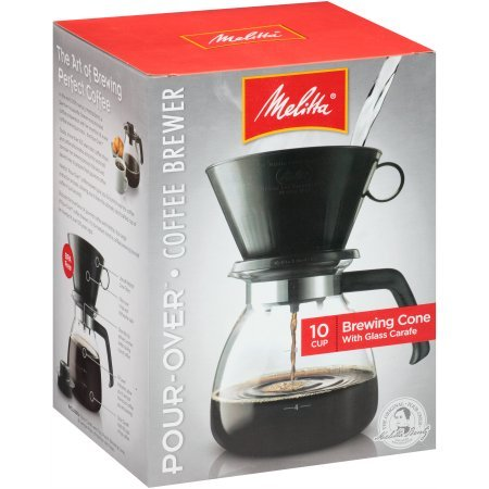 Pour-Over Brewer 10 Cup Coffee Maker with Glass Carafe Box (Melitta 10 Thermal compare prices)