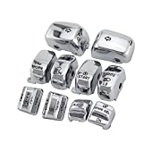 Chrome Hand Control Switch Housing Caps For Harley-Davidson Electra Street Glide 1996-2013