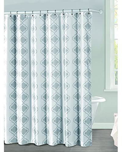 Duck River Textile Crystal Shower Curtain, Grey