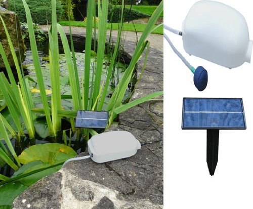 Solar Powered Pond Oxygenator (743)-keep Your Fish/plant Life Healthy With Fresh