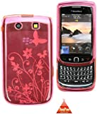 TEEPEE ONLINE� PINK FLORAL CASE COVER BLACKBERRY TORCH 9800
