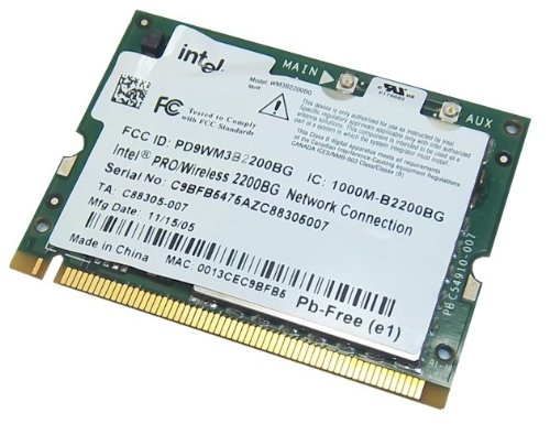 Intel PRO/Wireless 2200BG 802.11b/g Wireless Network Adapter