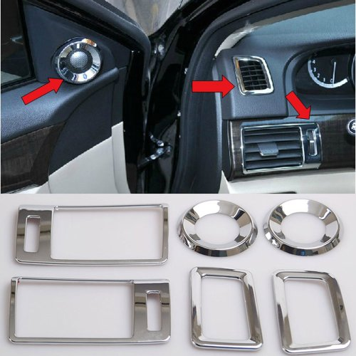 Chrome Interior Air Condition Vent Trumpet Cover Trim For Honda Accord Mk9 13 14 front-55244