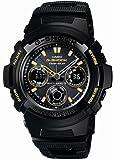 [カシオ]CASIO 腕時計 G-SHOCK ジーショック STANDARD BLACK × GOLD Series タフソーラー 電波時計 MULTIBAND 5 AWG-100BC-1AJF メンズ