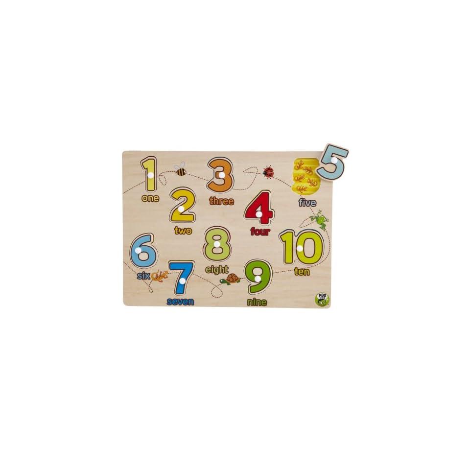 PBS Kids Peg Puzzle 123 (10 pc)
