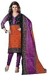 Mansi Fashion Women's Cotton Dress Material (MF-MP-2006 , Brown)