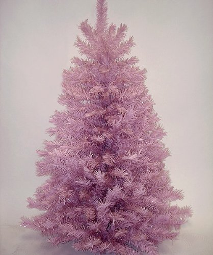 4.5' Pink Mauve Artificial Christmas Tree - Unlit
