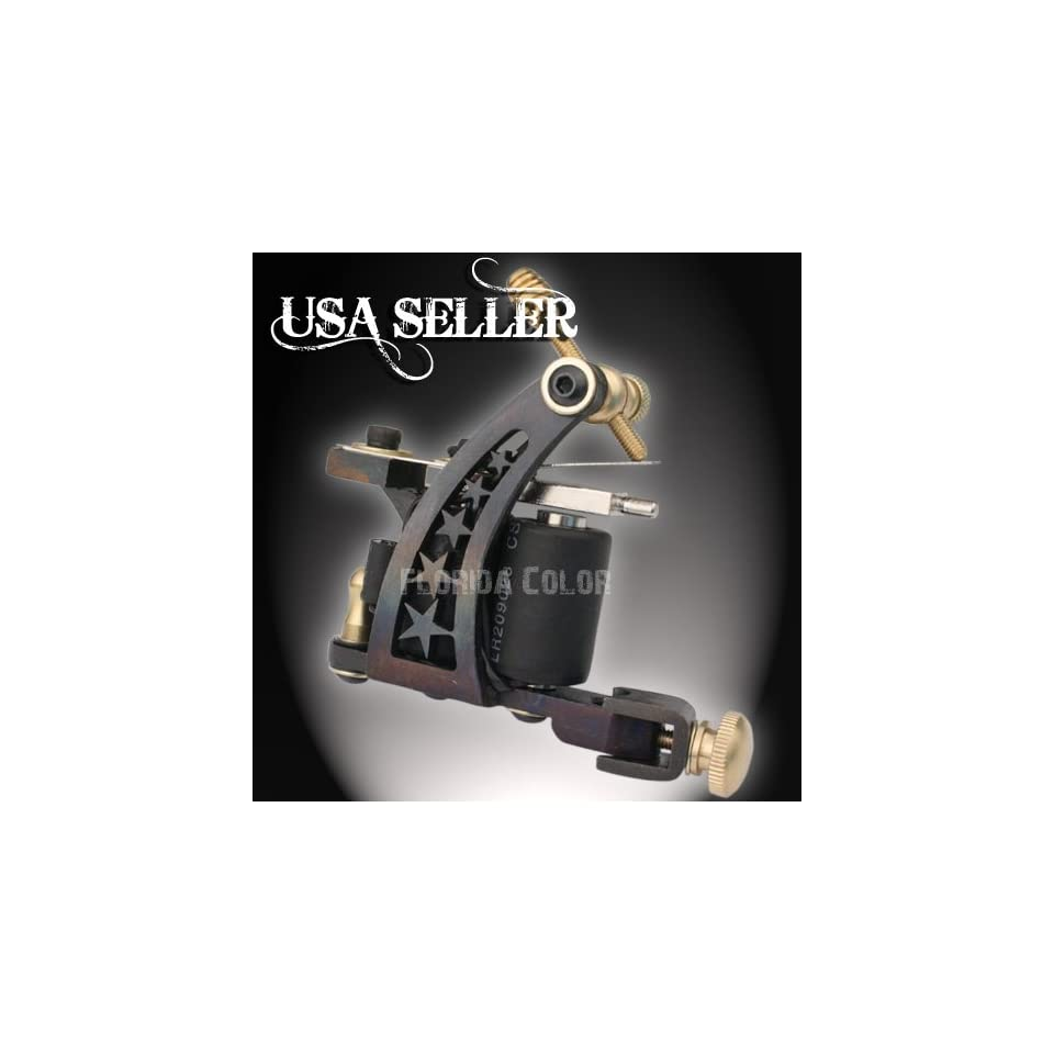 Tattoo Machine Gun Shader or Liner Hand Made Pro Iron 10 Wrap Coil USA