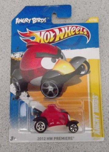 Hot Wheels 2012 HW Premiere Angry Birds Red #47/247