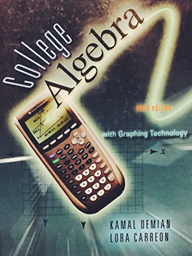 College Algebra College Algebra With Graphing Technology 9780078042539 Slugbooks