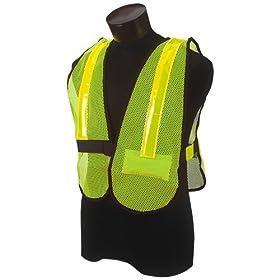 Kimberly Clark Jackson Safety 18366 Vinyl Coated Flashing LED Lighted Safety Vest, Lime
