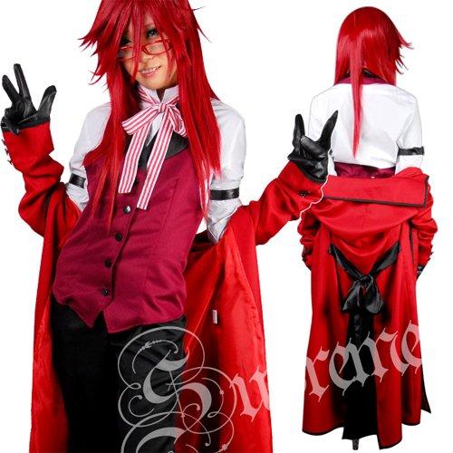 【黒執事】 赤い死神★グレル・サトクリフ執事服7点セット Lサイズ