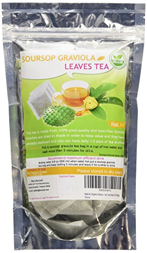 NalLife Organic Soursop Graviola Leaves Tea Pack of 30 Bags (Soursop Juice compare prices)
