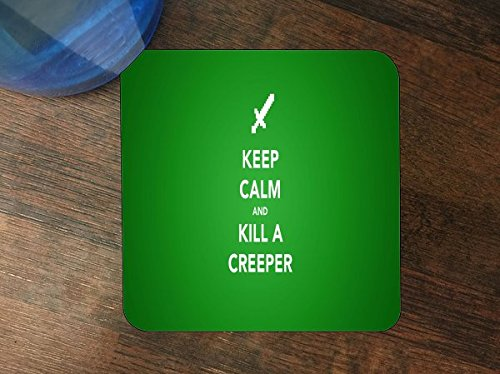 Keep Calm Kill Creepers Art Silicone Drink Beverage Coaster 4 Pack by MWCustoms