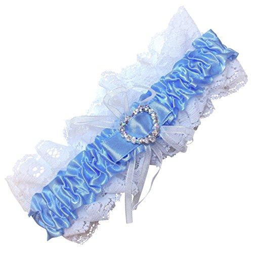 De-boda-para-de-novia-de-Boutique-para-despedida-Do-trajes-de-novia-blanca-y-azul-de-cinta-satinada-por-ambas-Liga-con-encaje-que-podra-sacar-algo-con-azul-azul