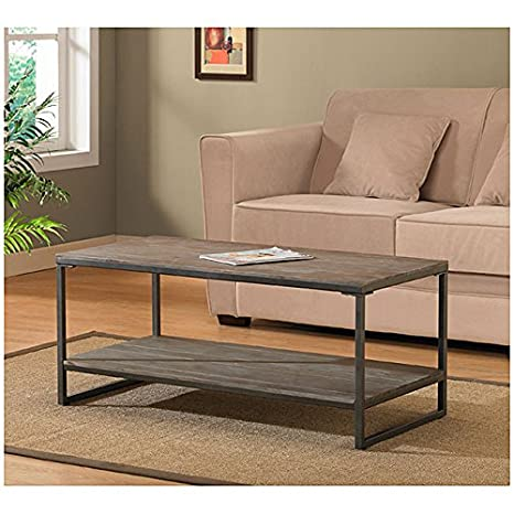 Metro Shop Elements Grey/Brown Coffee Table with Shelf--