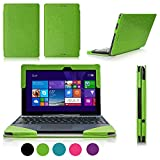 FYY? Fully Armed Leather Case for ASUS Transformer Book T100 Green