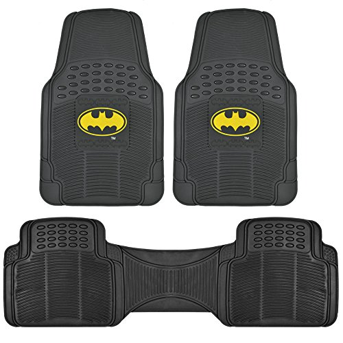 original-batman-rubber-floor-mats-for-car-3-pc-set-warner-brothers-trimmable-to-fit