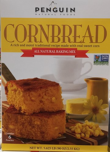 Penguin Natural Foods All Natural Baking Mix Corn Bread 6 Pouch Box net wt 5.625(lbs) (Baking Corn compare prices)
