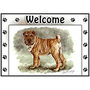 Chinese Shar-Pei Welcome Sign