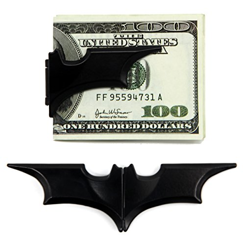Zhonyee Unisex's Zinc Alloy Man Batman Batarang Money Clip - Velvet Carrying Bag Included - Black (Batman Batarang Money Clip compare prices)