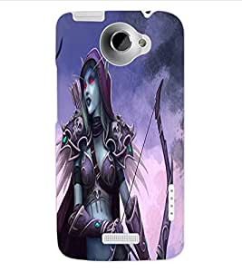 ColourCraft Dark Angel Design Back Case Cover for HTC ONE X