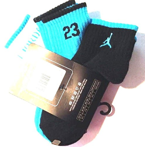 Nike Air Jordan Boys 3 Pair Quarter Socks Size 7-9 3y-5y - 1