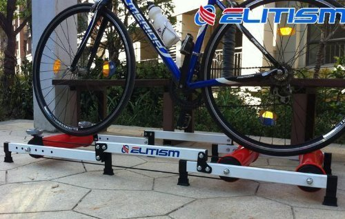 ELITISM サイクルトレーナー 3本ローラー (コンパクト三つ折折り畳み式) 自宅でトレーニング 【日本語組み立て説明書付き】 並行輸入品