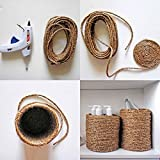 Brown - 400 Feet Jute Twine - Heavy Duty All Natural, Biodegradable,- For Industrial, Packaging, Arts & Crafts, Hobby, Gifts, Decoration, Bundling, Gardening, And Home Use - By Kazco