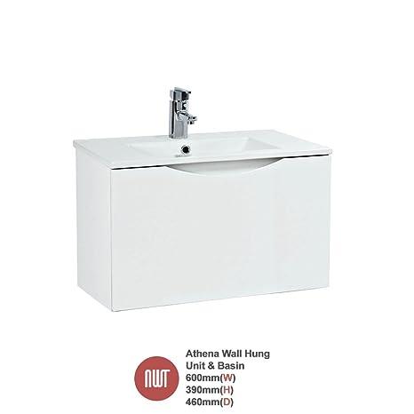 """Athena White"" Wall Hung Unit & Basin - 600mm(w) x 390mm(h)"