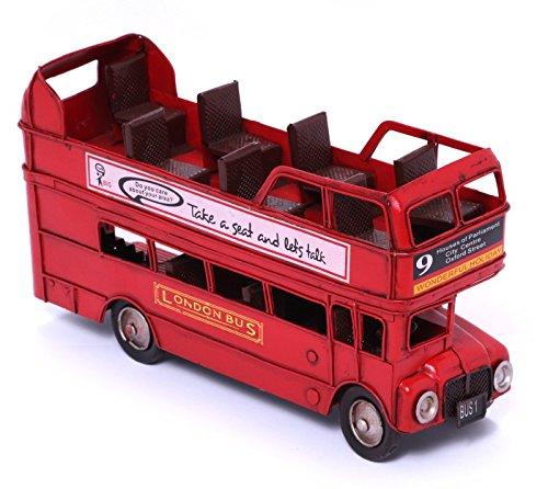 Model Car - London Bus Routemaster Open - Retro Tin Model