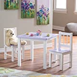 Lipper Kids Small Lilac And Table And Chair Set