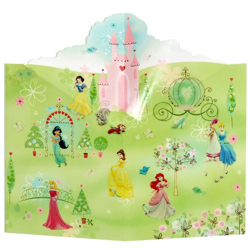 Hallmark 205123 Disney Princess Pop Up Scene with Stickers - 1