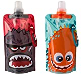 Design Your Own Quencher Vapur Anti-Bottle For Kids, Set of 2, Splash and Fuse. 0.4L. Made in USA.