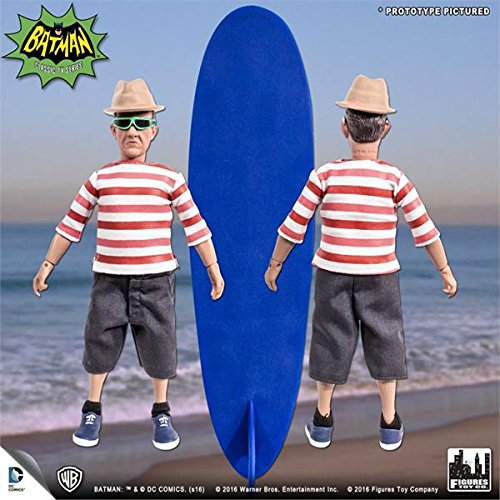 Batman Classic 1966 tv series Retro Action Figure; Surfing Series Chief O hara & surfboard