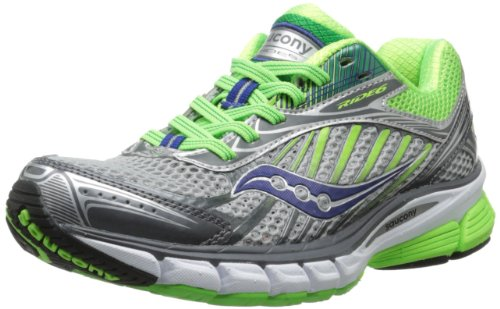 Saucony Women's Ride 6 Running Shoe,Silver/Green/Blue,8 M US