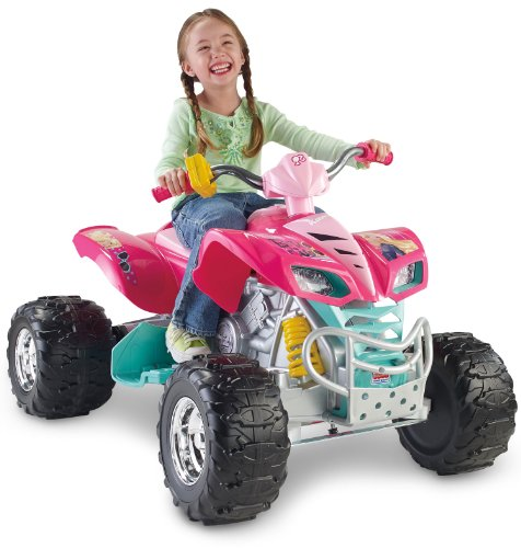 Fisher-Price Power Wheels Barbie 6MPH KFX Ride On with 12V Quick Charger