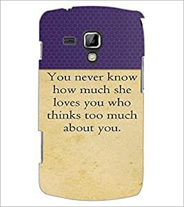 PrintDhaba Quote D-2645 Back Case Cover for SAMSUNG GALAXY S DUOS 2 S7582 (Multi-Coloured)