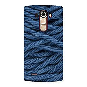 Denim Rope Print Back Case Cover for LG G4